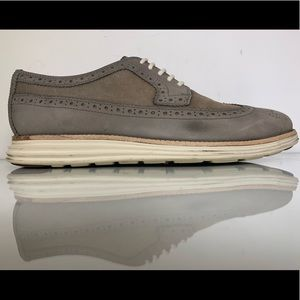 Cole Haan LunarGrand 'Pewter' Long Wing Oxford 9.5